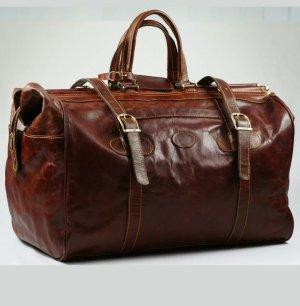 Weekender Bag cognac-coloured leather
