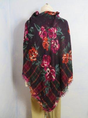 Sonstige Châle au tricot multicolore