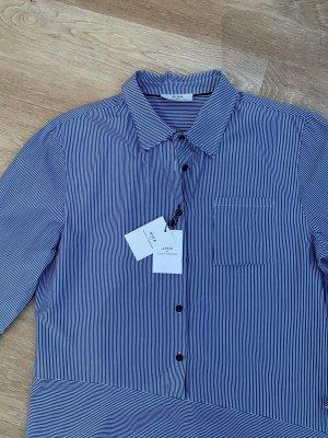 Rika Studios Shirtwaist dress white-dark blue cotton