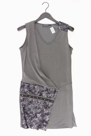 Rina Scimento Abendkleid Größe L Ärmellos mit Pailletten grau