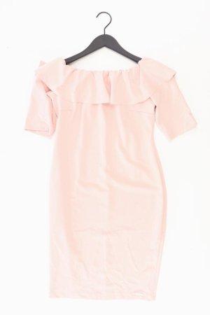 Rina Scimento Stretchkleid Größe L Kurzarm mit Carmen-Ausschnitt pink