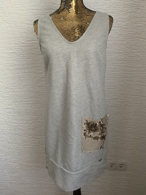 Rinascimento vestido de globo gris claro-color oro