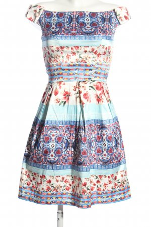 Rinascimento A-Linien Kleid Allover-Druck Elegant