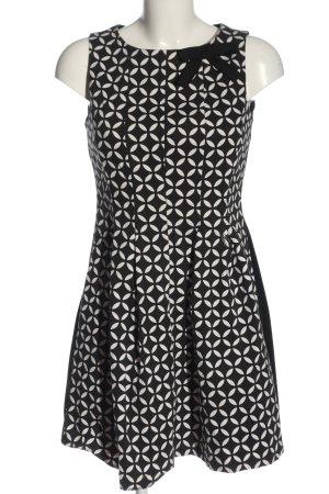 Rinascimento A-Linien Kleid schwarz-weiß Allover-Druck Casual-Look
