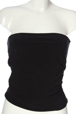 Rinascimento Top z dekoltem typu bandeau czarny W stylu casual