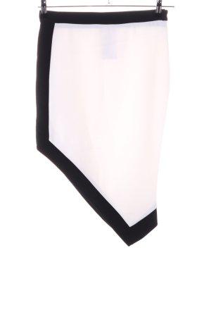 Rinascimento Falda asimétrica crema-negro estilo extravagante