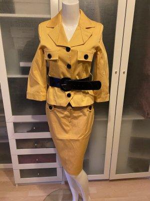 Rinascimento Korte blazer geel