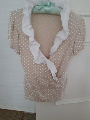 Rinascimento Bluse beige mit weißen Dots