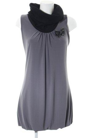 Rinascimento Blusenkleid hellgrau-schwarz schlichter Stil