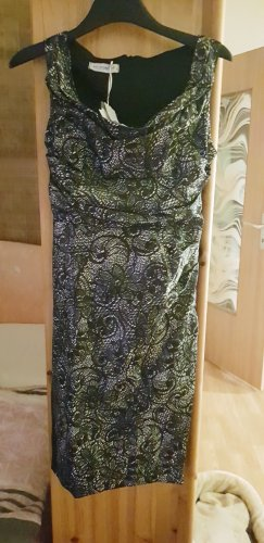 IL RINASCIMENTO Sukienka z dekoltem typu halter biały-czarny