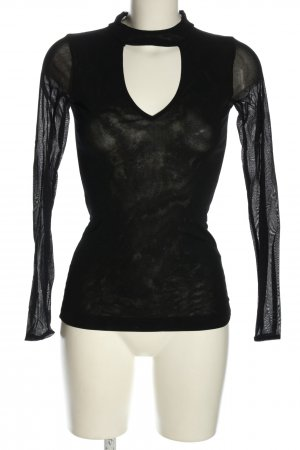 Rinascimento Cut-Out-Top schwarz Casual-Look