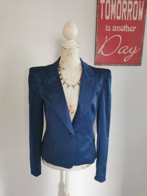 Rinascimento Damen Blazer Giacca Jacket Satin Marineblau Größe L