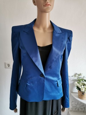 Rinascimento Damen Blazer Giacca Jacket Satin Marineblau Größe L NEU