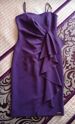 Rinascimento Pencil Dress blue violet polyester