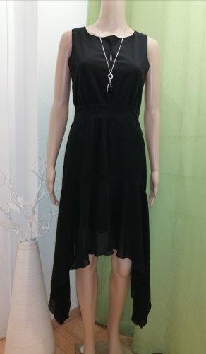 Rinascimento Vestido de chifón negro Poliéster