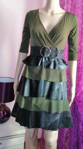 Rinascimento Damen Freizeit Kleid mit Lederdetails XS 32/34