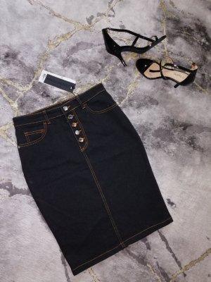 Rinascimento Gonna di jeans nero Cotone