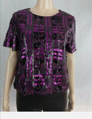 Rinascimento Glanzende blouse bruin-paars Polyester