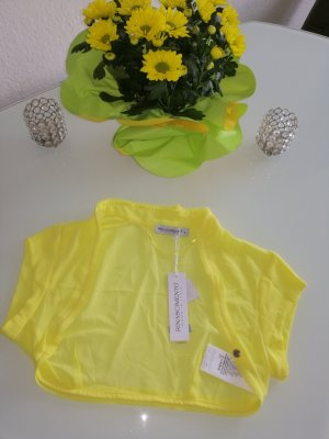 Rinascimento Damen Sommer Chiffon Bolero-Jäckchen gelb Gr. S 34/36