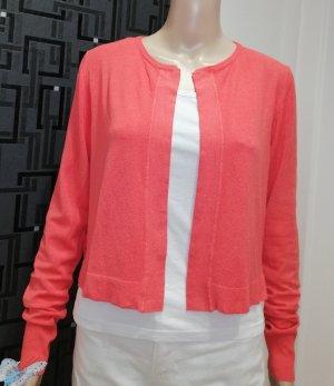 Rinascimento Cardigan in maglia rosso chiaro Viscosa