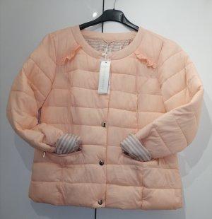 Rinascimento Pikowana kurtka brzoskwiniowy-kremowy Poliamid