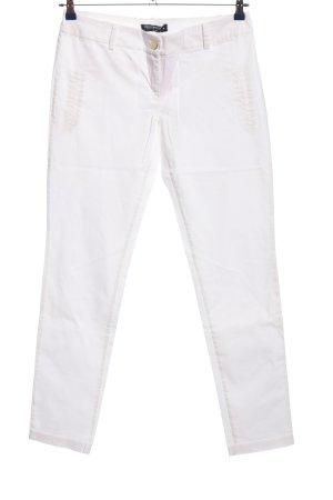Rinascimento Spodnie biodrówki biały W stylu casual