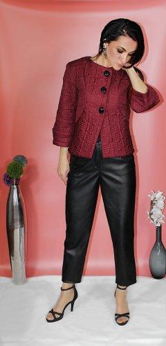 Rinascimento Faux Leather Jacket bordeaux