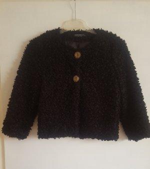 IL RINASCIMENTO Fur Jacket black