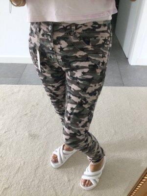 Rinascimento Pantalone largo grigio-crema