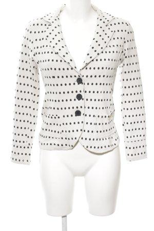 Rinascimento Jersey blazer wit-zwart gestippeld patroon casual uitstraling