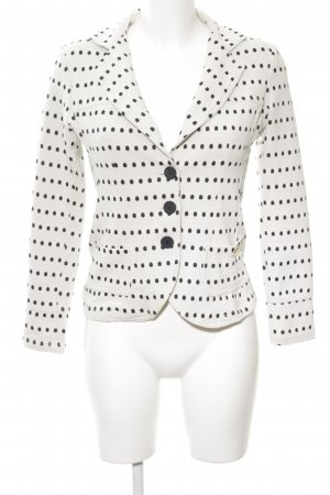 Rinascimento Jerseyblazer weiß-schwarz Punktemuster Casual-Look