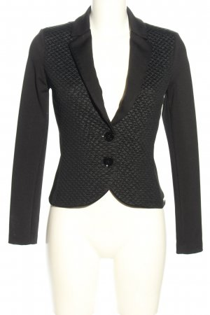 Rinascimento Jersey blazer zwart quilten patroon casual uitstraling
