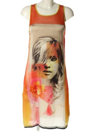 Rinascimento Jerseykleid blassgelb-hellorange Motivdruck Casual-Look