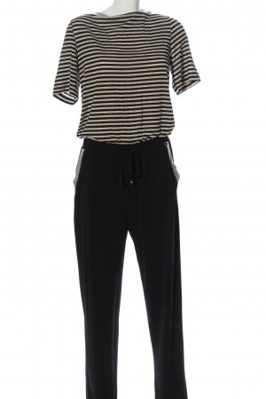 Rinascimento Jumpsuit schwarz-creme Streifenmuster Casual-Look
