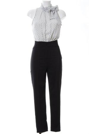 Rinascimento Jumpsuit schwarz-weiß Punktemuster Business-Look