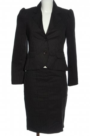 Rinascimento Ladies' Suit black-natural white striped pattern casual look