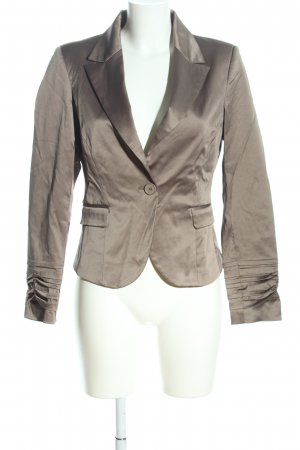 Rinascimento Korte blazer zilver zakelijke stijl
