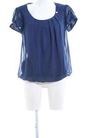 Rinascimento Camicetta a maniche corte blu elegante