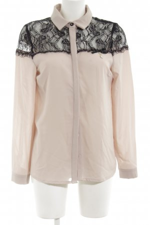 Rinascimento Langarm-Bluse creme-schwarz Casual-Look