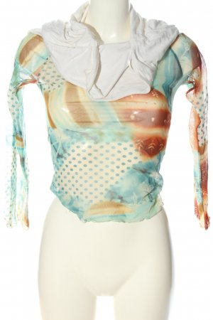 Rinascimento Langarm-Bluse abstraktes Muster Casual-Look