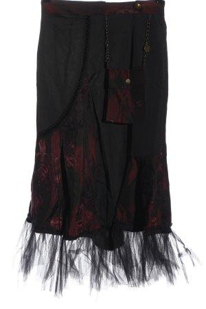 Rinascimento Spódnica midi czarny-czerwony Nadruk z motywem W stylu casual
