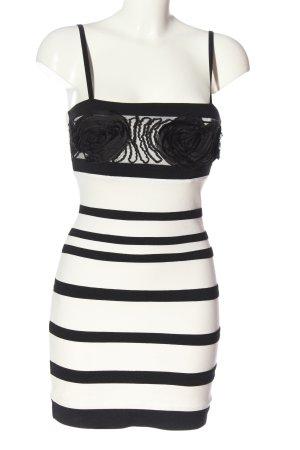 Rinascimento Minikleid weiß-schwarz Streifenmuster Business-Look