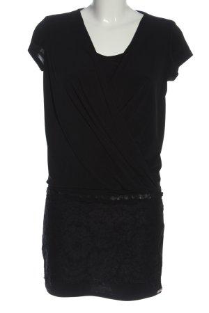 Rinascimento Minikleid schwarz-lila Allover-Druck Casual-Look