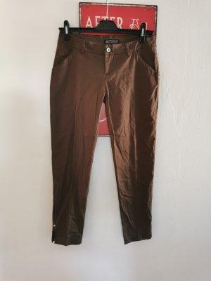 Rinascimento Pantalone chino marrone-nero