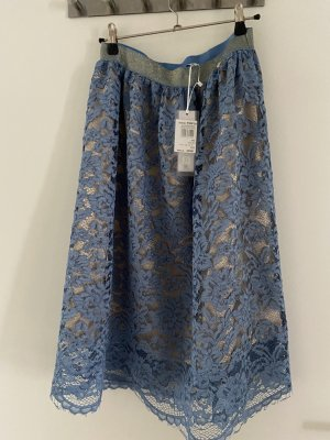 Rinascimento Lace Skirt gold-colored-light blue
