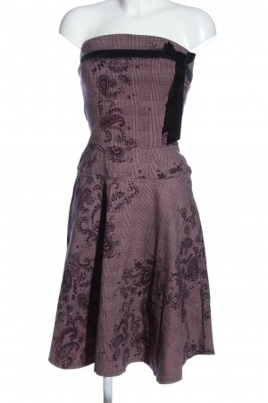 Rinascimento schulterfreies Kleid abstraktes Muster Elegant