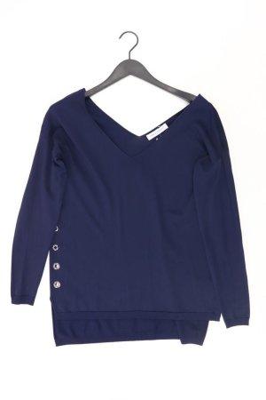 Rinascimento Shirt mit V-Ausschnitt Größe S Langarm blau aus Viskose