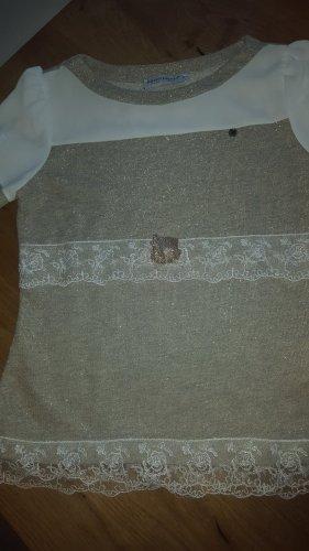 Rinascimento Shirt Spitze grau metallic 34/36 GrS