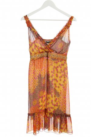 Rinascimento Sommerkleid hellorange-blassgelb abstraktes Muster Casual-Look