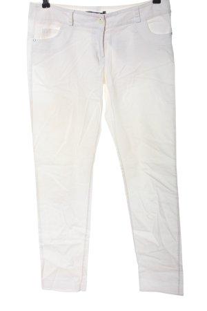 Rinascimento Pantalone jersey bianco stile casual